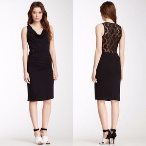 Laundry by Shelli Segal Cowl Neck Back Lace Dress